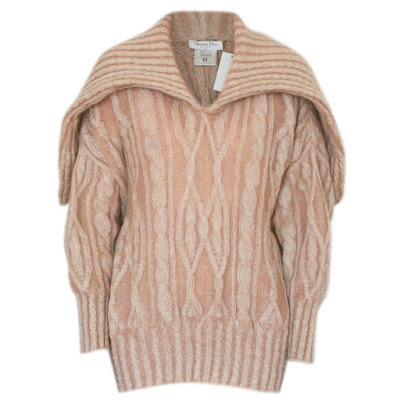 christian dior boutique oversize cable knit mohair sweater