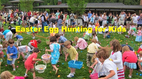 Easter egg hunting for kids