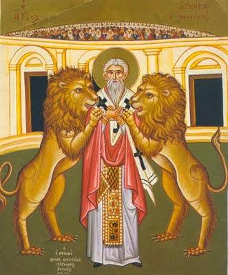 Santo Inácio foi devorado pelos leões, martirio de Santo Inácio de Antioquia