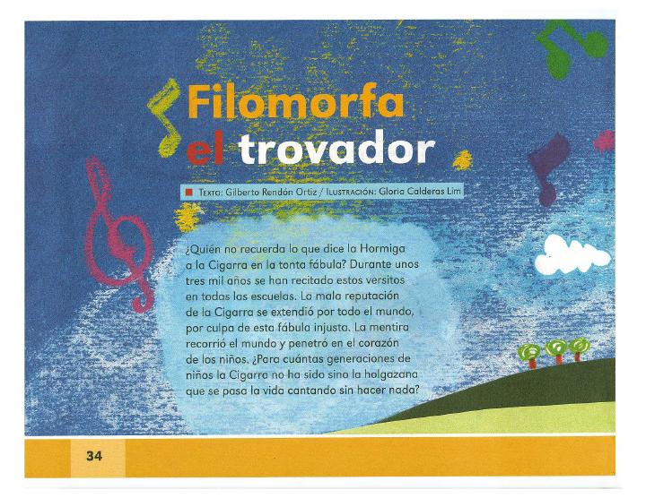 Filomorfa y el trovador - Español Lecturas 2do