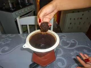 Borra de café para estrias