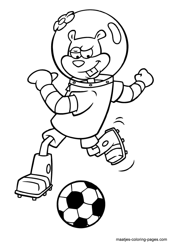 Sandy Cheeks Coloring Pages