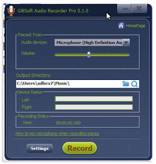 Cara Merekam Suara, Audio Musik Langsung Dari PC