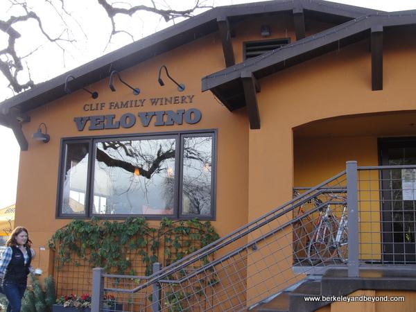 exterior of Clif Family Velo Vino Tasting Room in St. Helena, California