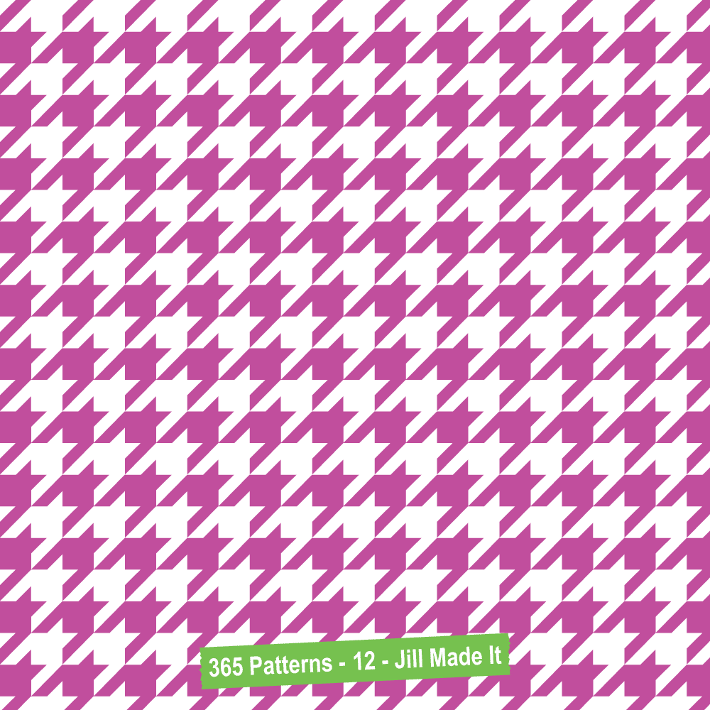 365 Patterns:  Pink and White Houndstooth