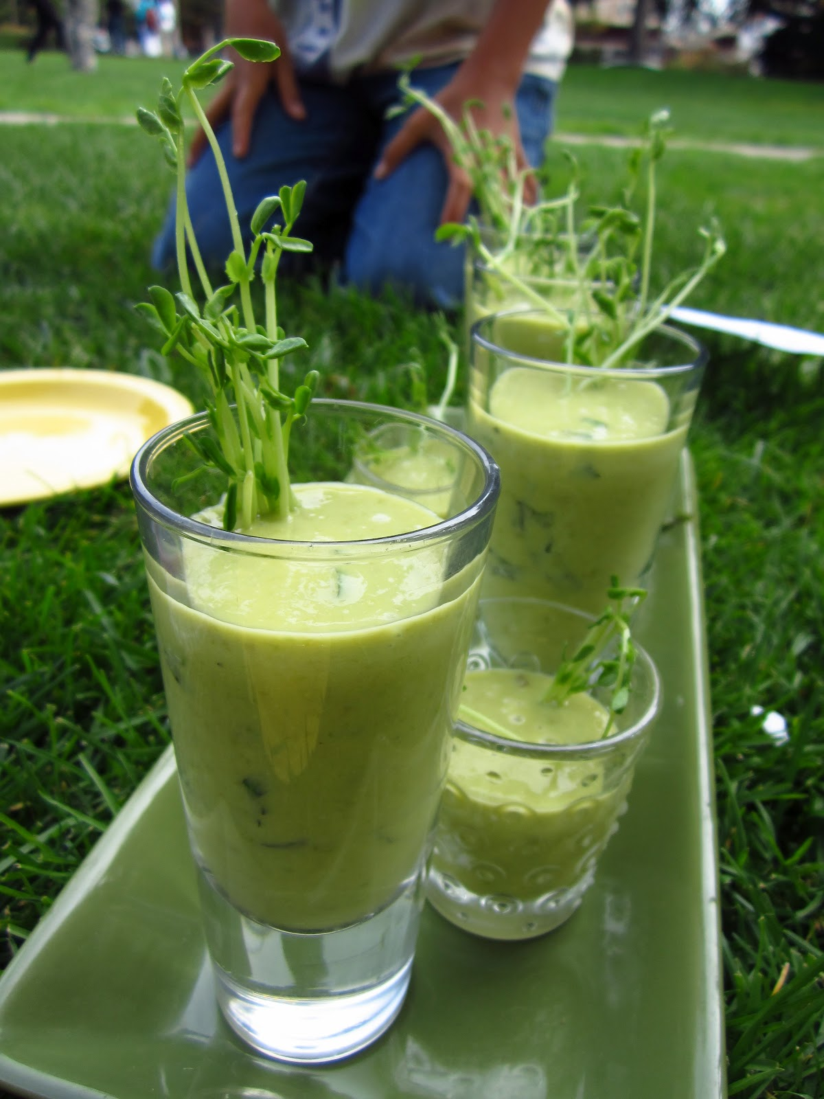 ... Adventures with Camilla: Chilled Ginger-Pea Soup with Fresh Pea Shoots