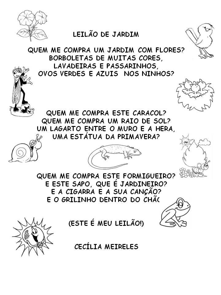 banco de jardim poesia:Poemas de Cecília Meireles