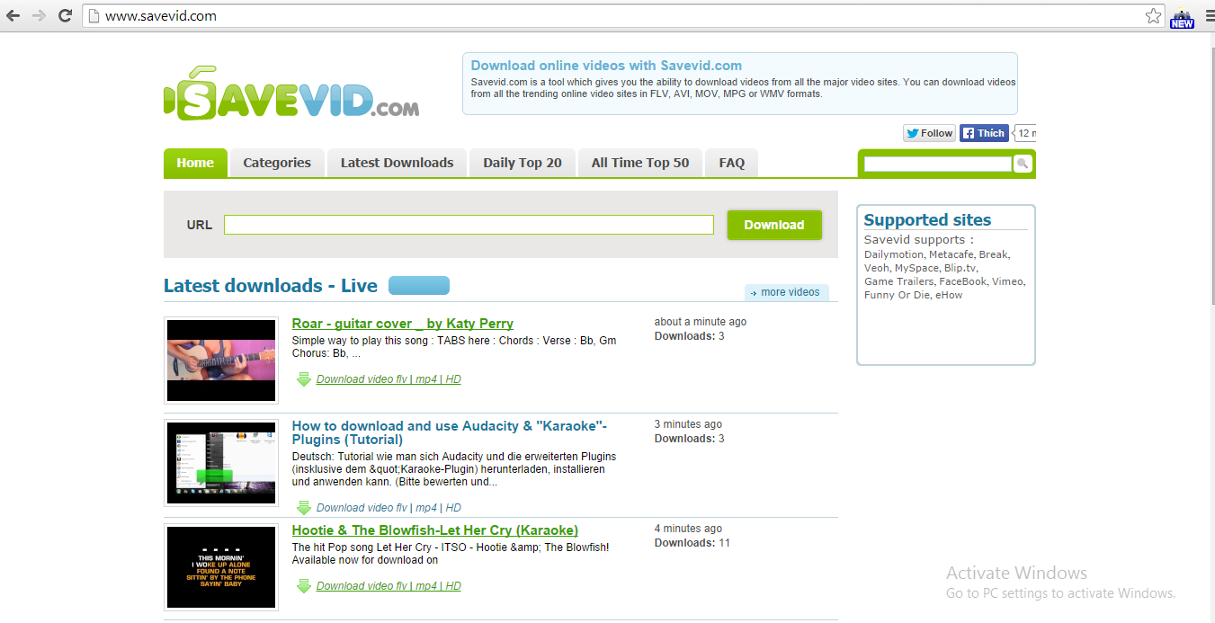Download Youtube Videos with Savevid.com