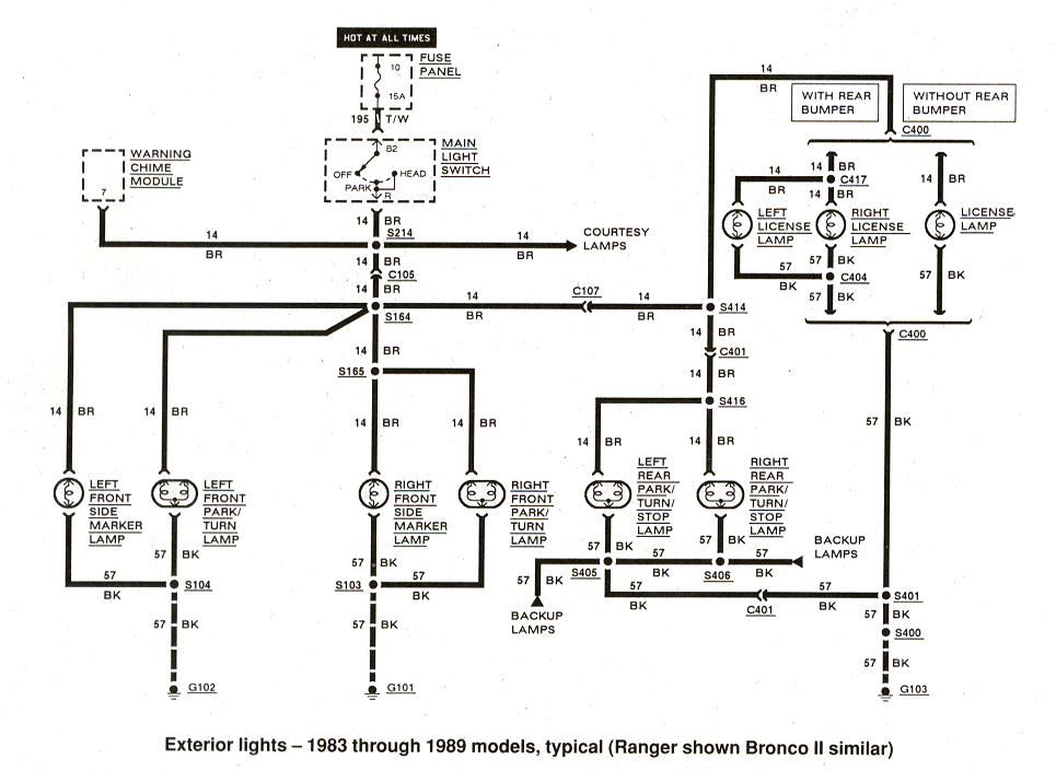 1984 Ford E350 Wiring Diagram as well 98 S10 Wiring Diagram Color as well 1983 1989 Ford Ranger Exterior Lights together with 7 5 Liter F250 Vacuum Diagram together with 1984 Chevy Silverado Parts Diagram. on 1988 ford f150 wiring diagram auto diagrams