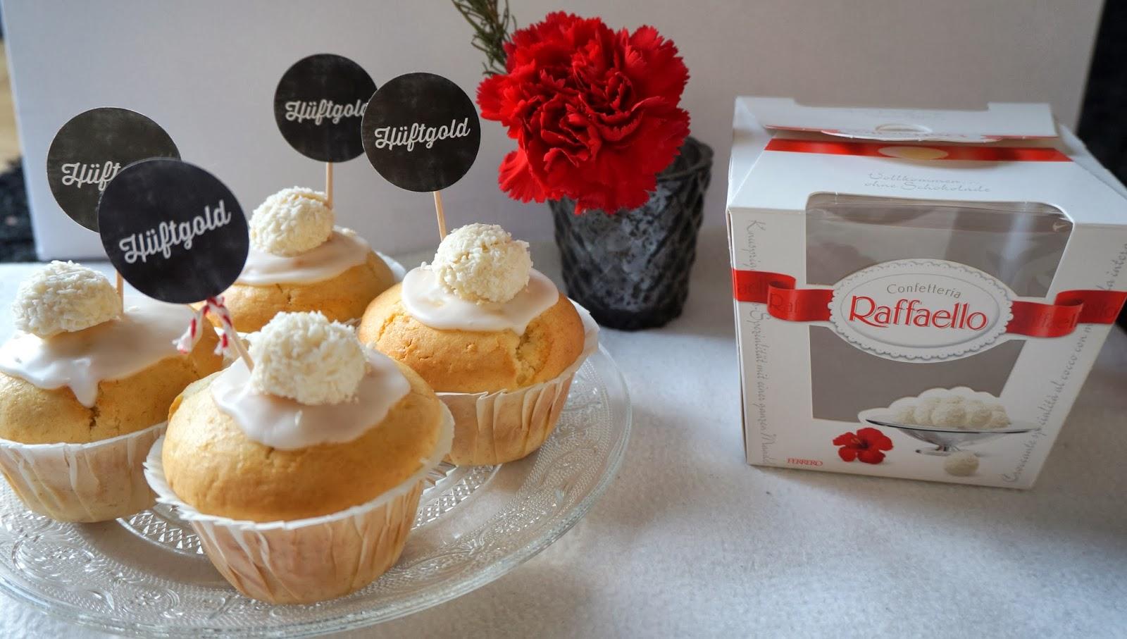 Cupcakes mit Kokos Raffaello Hüftgold Cupcakes weiß