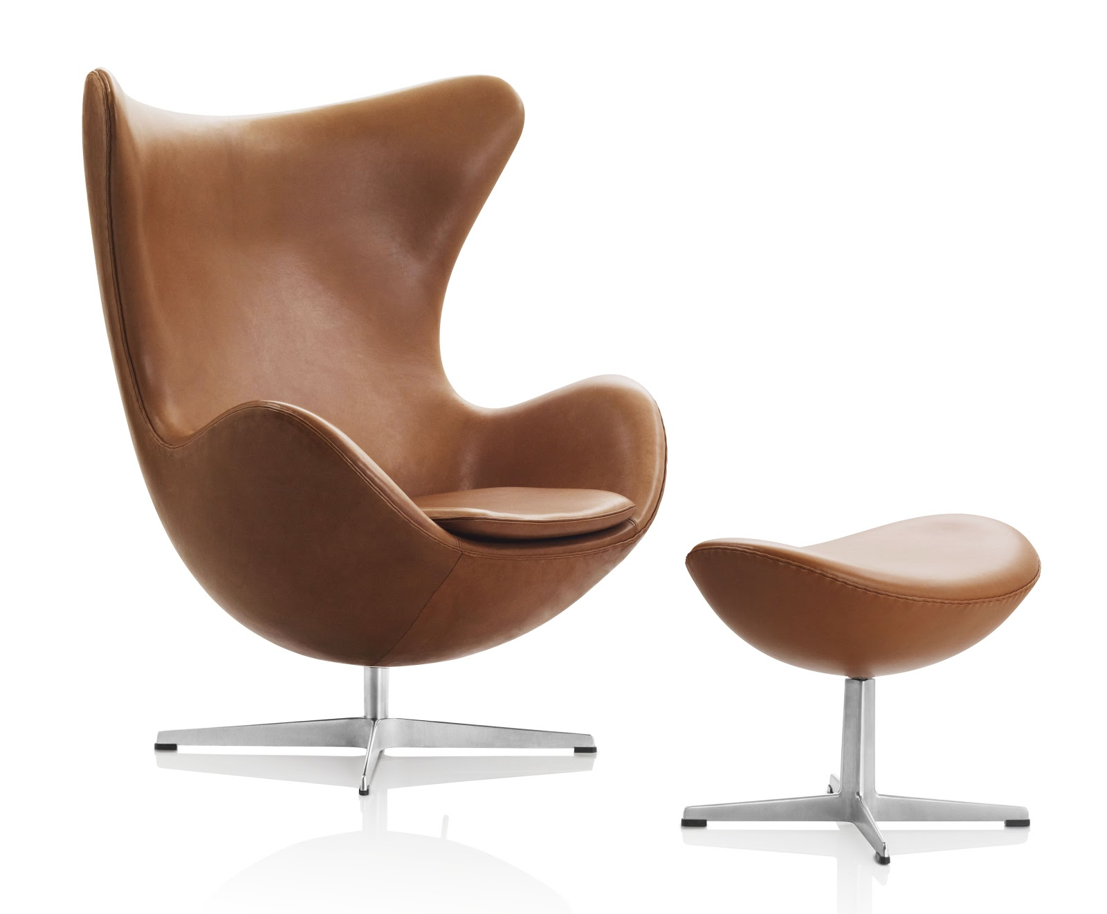Egg chair walnut leater fritz hansen arne jacobsen for Egg chair original