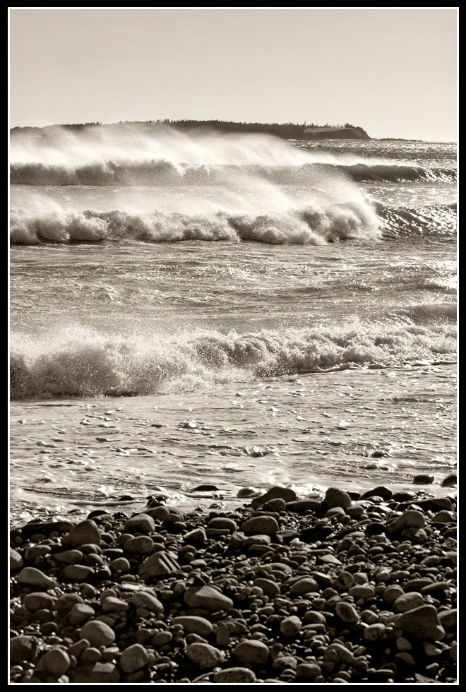 Nova Scotia; Hirtle's Beach; Surf; Atlantic Ocean