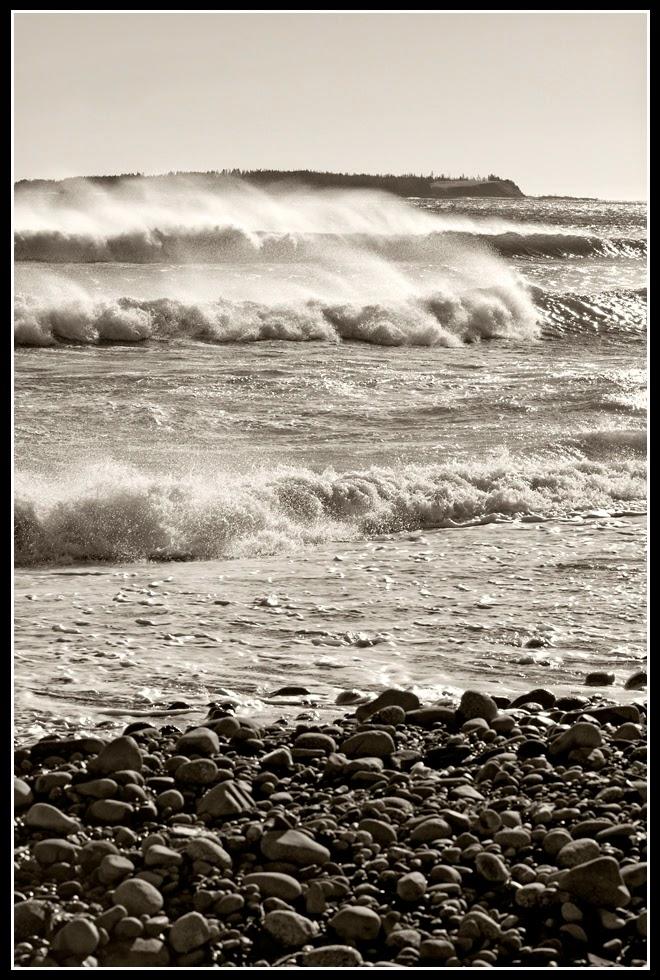 Nova Scotia; Hirtle's Beach; Surf; Atlantic Ocean