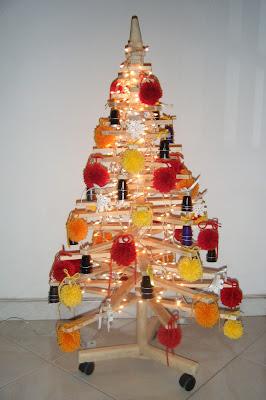 Árvore de Natal com paletes