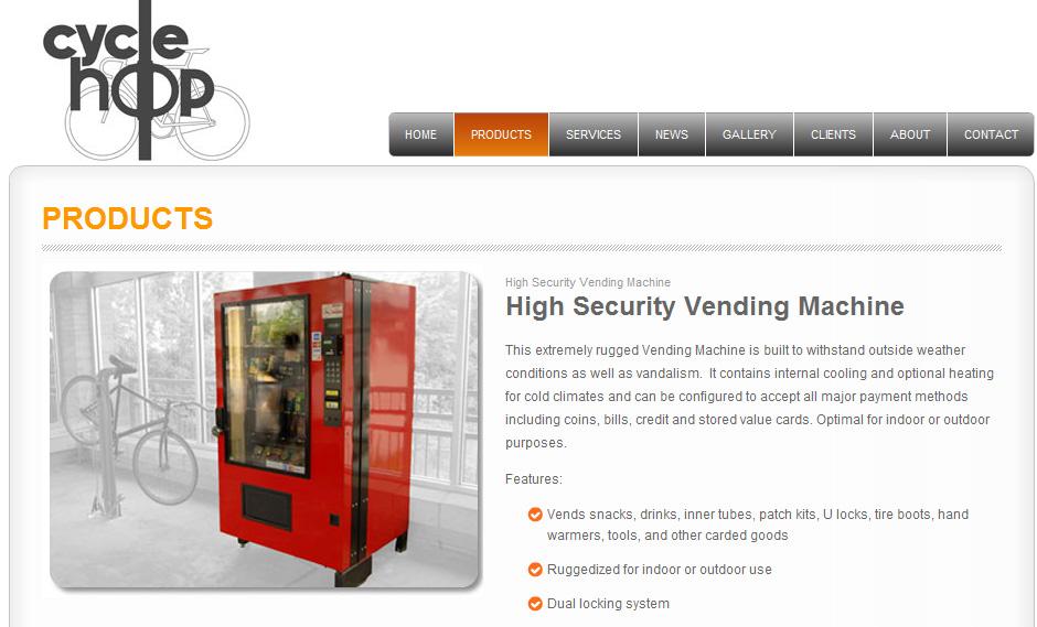 vending machine that sells bicycle bicycle repair related stuff