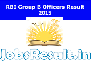 RBI Group B Officers Result 2015