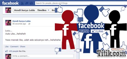 Auto Like Status Facebook