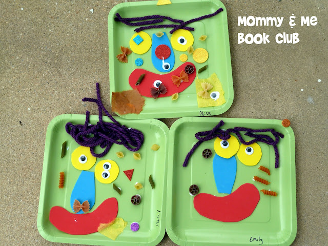 photo of: Green Monster Collages from Mommy + Me Book Club (via Monster RoundUP with RainbowsWithinReach) 
