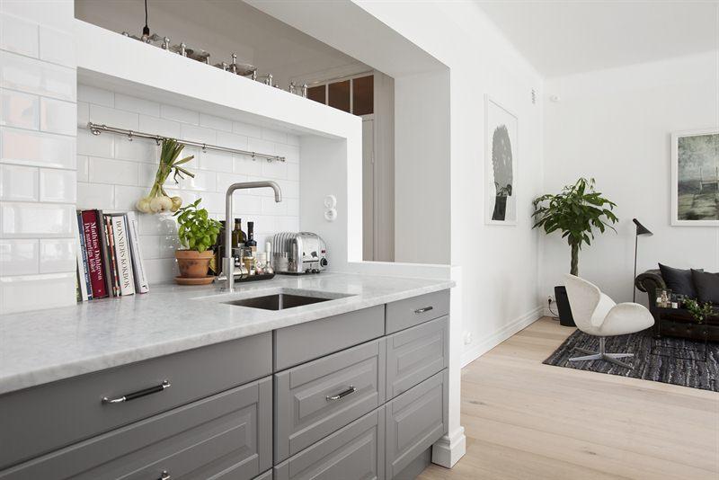 W domu Marty Szara kuchnia z Ikea II -> Kuchnia Ikea Blaty