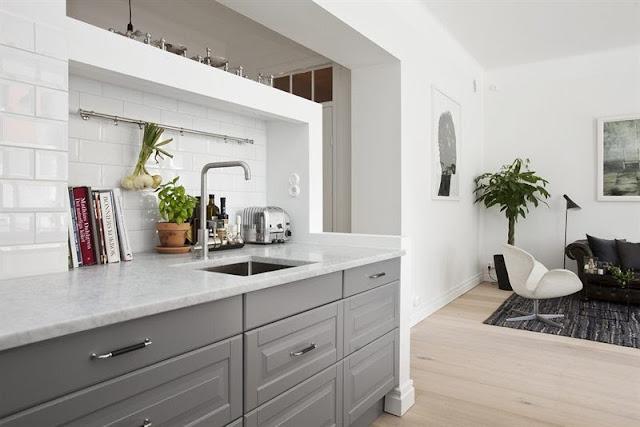 W domu Marty Szara kuchnia z Ikea II -> Siwa Kuchnia Ikea