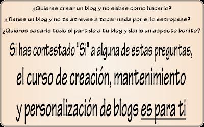 Creación, mantenimiento y personalización de blogs