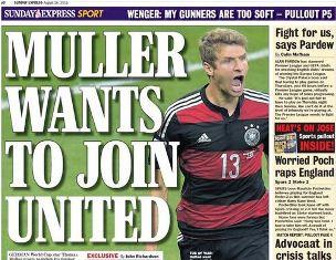 Manchester United Siapkan Gaji Besar untuk Thomas Muller