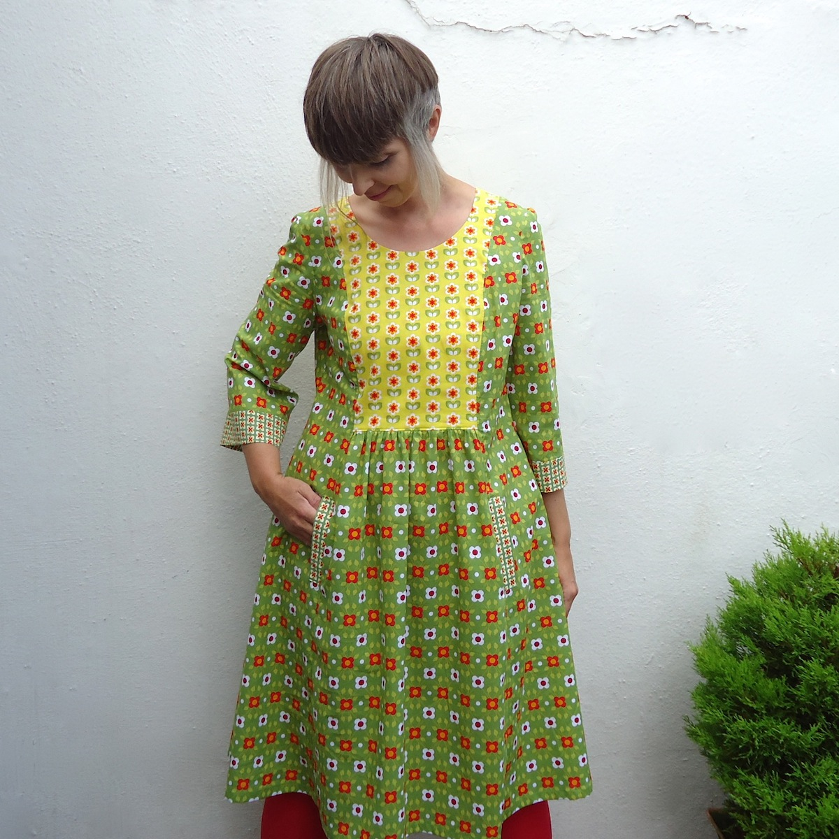 A very colourful Cinema Dress by Ivy Arch