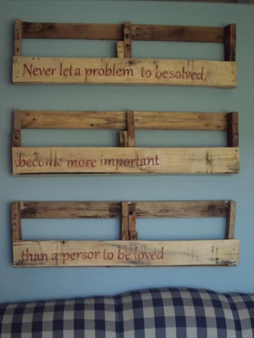 Wood Pallet Project Shelves