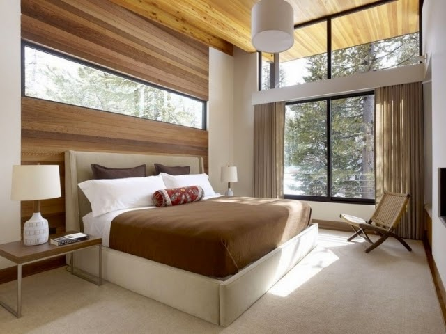 wooden wall designed bedroom - Designed Bedroom