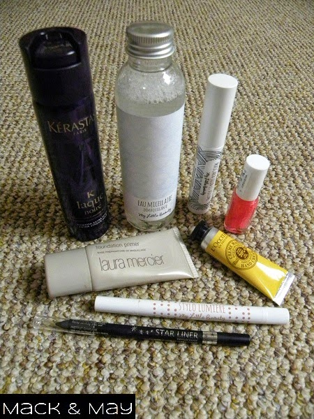 picture of sample of beauty items from my little box