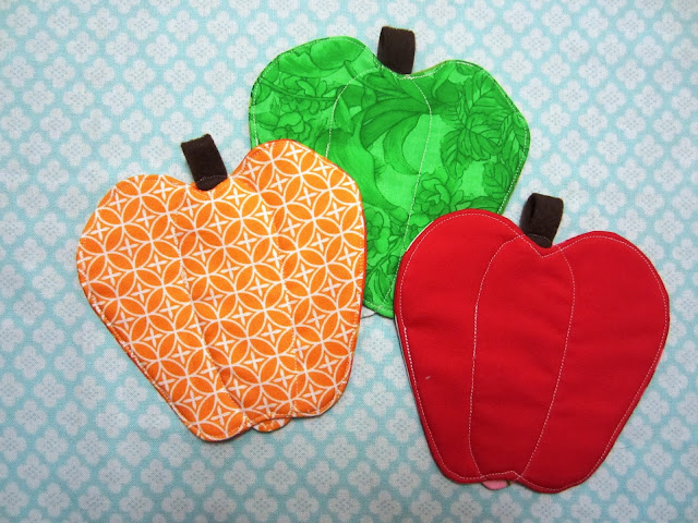 Patchwork, Please Bell Pepper Coasters
