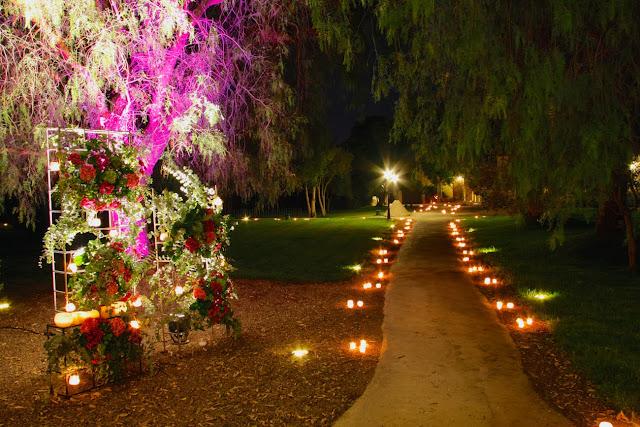 Boda Valencia decoracion entrada mar de velas