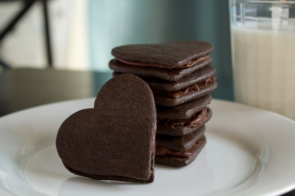 ... : Chocolate Wafer Sandwich Cookies with Vanilla and Chocolate Filling