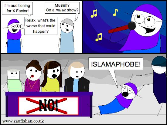 comic x factor judges islamophobia
