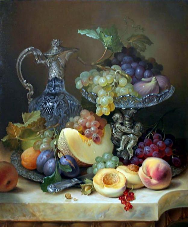 Resultado de imagen de cuadro de frutas de pintores antiguos