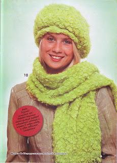 Вязание спицами шапок, шарфов, перчаток, комплектов. Объемный берет из пряжи букле спицами