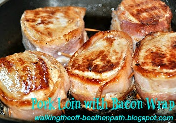 pork loin bacon and toothpicks, Three easy steps to make a mouthwatering dinner for your family