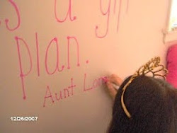 Signing a Poem in Claire's  room -  What a blessing!  And it was fun to write on the wall.