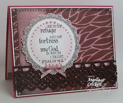 "Our Daily Bread designs ""Weave Background"", ""Bookmark Verses"", ""Serve the Lord"", Designer Angie Crockett"