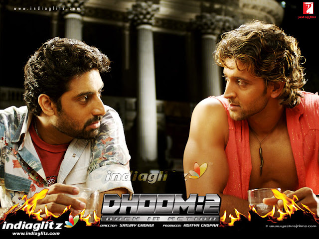 Abhishek Bachchan & Hrithik Roshan in 'Dhoom 2' Movie