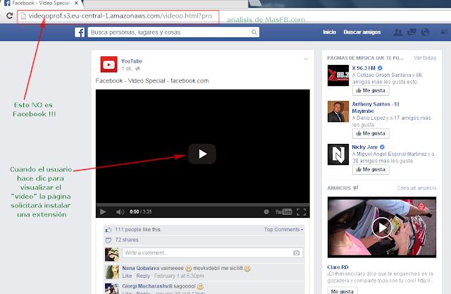 Pagina similar a Facebook para engañar