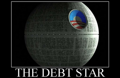Ofascist's Country-Destroying/Jobs-Killing Debt Star