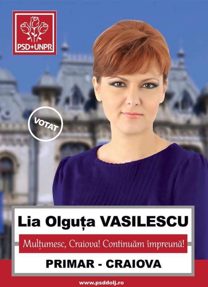 Lia Olguta Vasilescu -Primar Craiova- Continuam împreună !