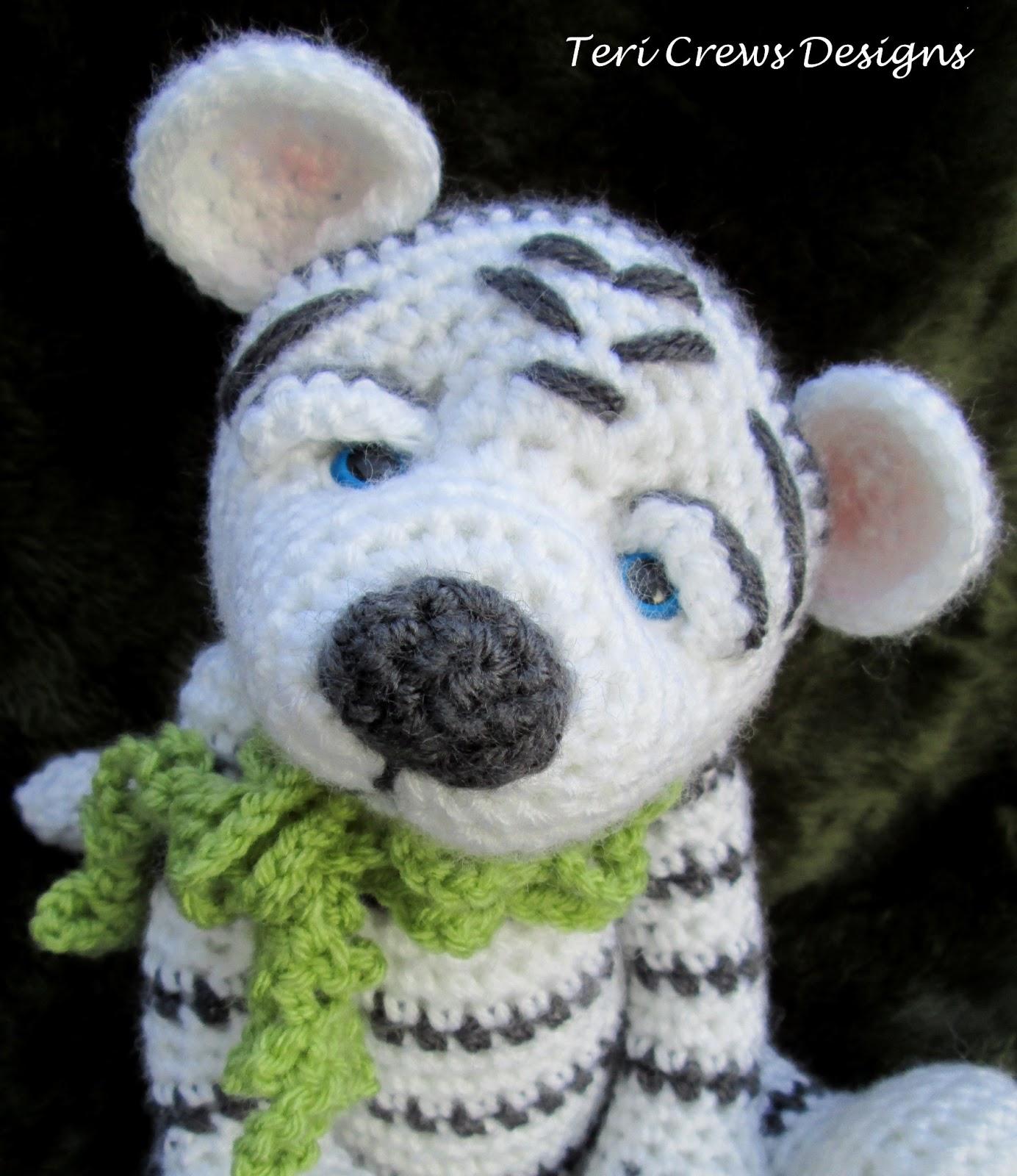 Teris Blog: New White Tiger Crochet Pattern