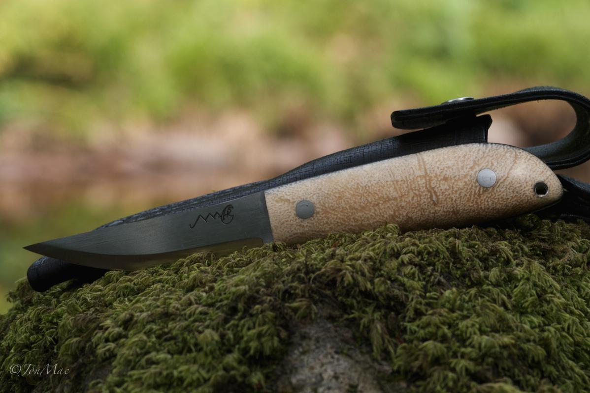 Bushcraft knife+spoon carving knife+jonmac+MaChris+14C28N