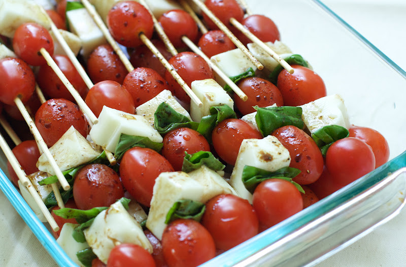 Caprese Salad Skewers : Oven Love