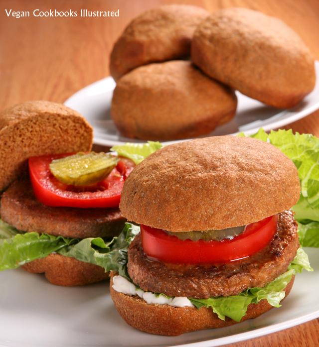 Vegan Cookbooks Illustrated: Whole Grain Burger Buns