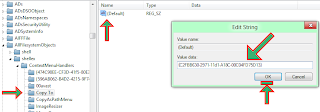 paste the below code in value data empty field and OK