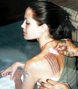 Anorexic Jolie tattoos
