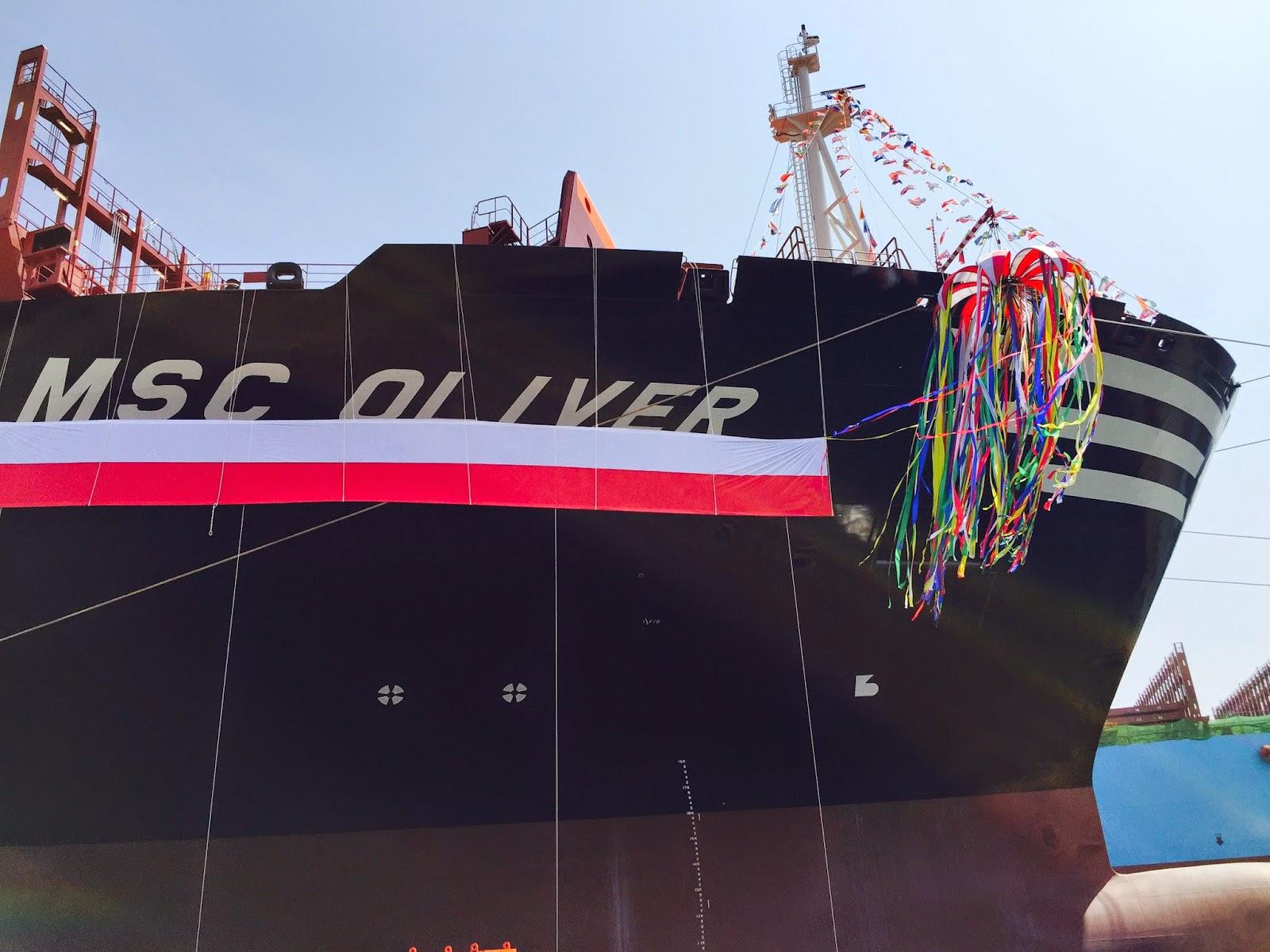 Consegnata la nave portacontainer Msc Oliver